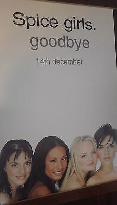"40x60"" HUGE SUBWAY POSTER~Spice Girls Goodbye 2000 Forever Scary,Sporty,Posh NOS"