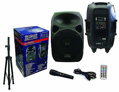 "Absolute USA 2-Way 15"" 3500W Active DJ/PA Speaker With Built In Bluetooth"