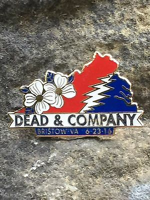Grateful Dead / Dead And Company Pin Bristow Va 6/23/16 FREE SHIPPING SOLD OUT!!