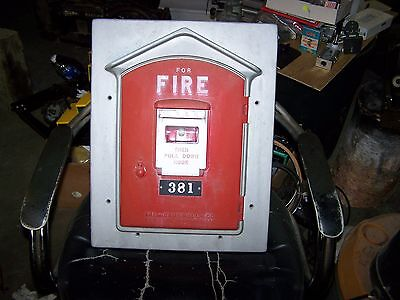 Vintage Gamewell Fire Alarm Box #381