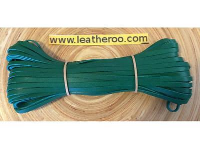 "Kangaroo Lace JADE Kangaroo Leather Lacing (3.0mm 1/8"" Width) 20 meter hank"