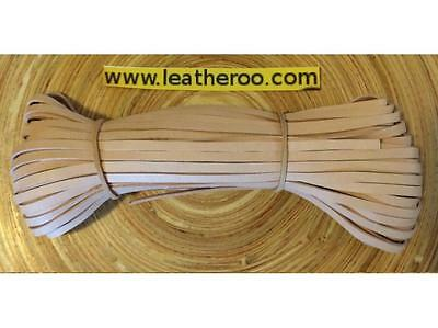 "Kangaroo Lace NATURAL Kangaroo Leather Lacing (3.0mm 1/8"" Width) 20 meter hank"