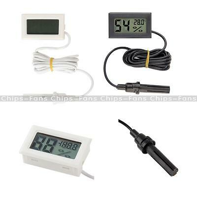 Mini Digital LCD Thermometer Hygrometer Humidity Temperature Meter Indoor 1.5M C