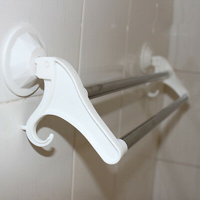 Multifunction Suction Cup Stainless Steel Wall Mounted Bath Towel Rack Holder