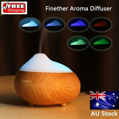 LED Ultrasonic Humidifier Diffuser Essential Oil Air Aromatherapy Aroma Purifier