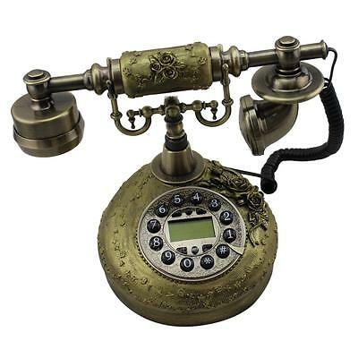 Vintage Antique Style Desk Telephone With LCD Screen For Home Living Room Decor