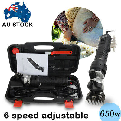 650W Electric Sheep Shearing Clipper Shear Goats Supplies Alpaca Farm Shears Set