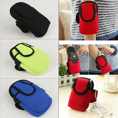 Arm Wrist Bag Sports Running Armband Cycling Wallet Phone Key Bag Holders Pouch