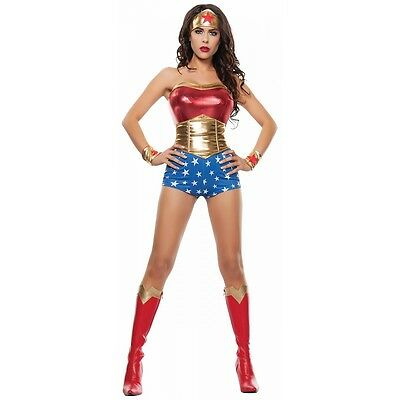 Lady Power Costume Halloween Fancy Dress