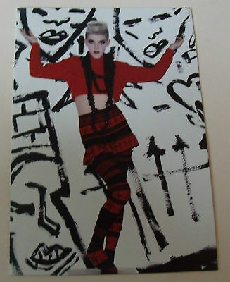 Body Map POSTCARD Fashion Jumper beads stockings 80's skirt red & Black punk V&A
