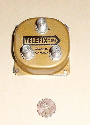 Vintage TELEFIX Cable TV Splitter TSP2 Made in Canada