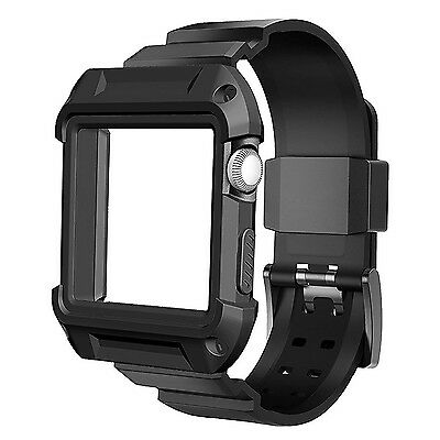 iWatch Rugged Case Band Apple Watch Protective Cover Bumper Protector 38mm 42mm