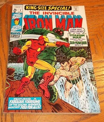 Iron Man King-Size Special #1 FN/VF 7.0 Marvel Comic Book Sub-Mariner Fab Four