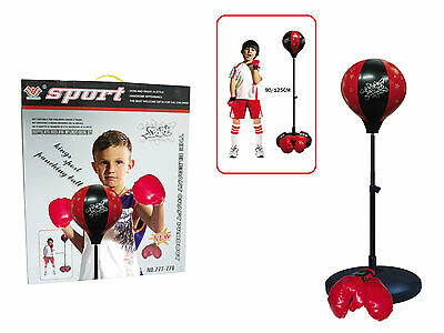 Boxing,Punchbag.Gloves.Punching Ball Set. Kids  Play Gift. Height Adjustable.