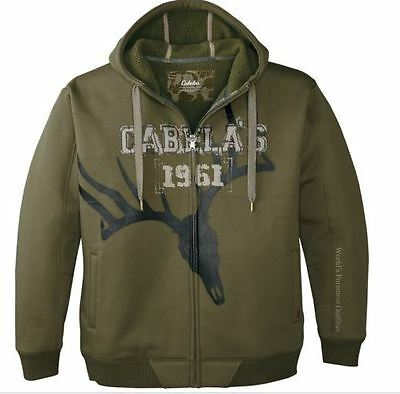 36f4ea0a3c047 NEW Large Medium Olive Insulated Hooded Jacket Mens Hunting Coat Cabelas  Camo