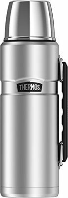 Thermos Stainless King 40 Ounce Beverage Bottle Hot Drinks Vacuum Insulated Lid
