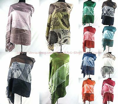 US SELLER-lot of 10 Women's Shawls and retro flower pashmina scarves viscose