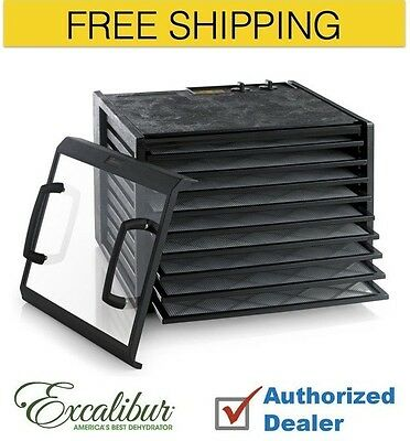 New 1 Excalibur 9-Tray Dehydrator the Timer series 3926TCDB, Free Shipping