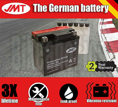 JMT Maintenance free battery- KTM MXC 525 Desert Racing - 2003