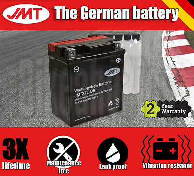 Premium JMT Maintenance free battery - YTX7L-BS- Yamaha YBR 125 ED - 2008