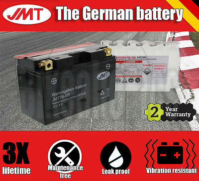 Premium JMT Maintenance free battery - YT7B-BS- Yamaha YW 125 BWS - 2015