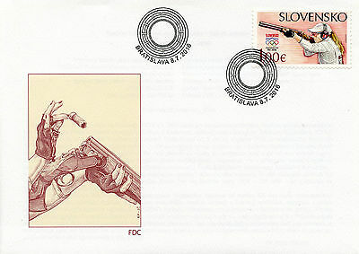 Slovakia 2016 FDC Olympic Summer Games Rio 1v Cover Shooting Olympics Stamps