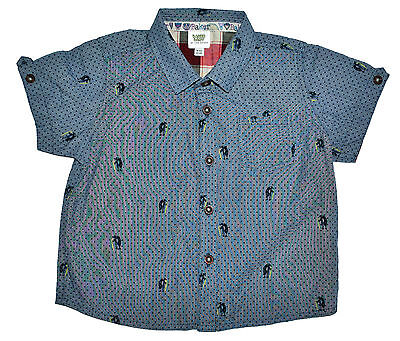 TED BAKER BABY BOY SHORT SLEEVE SHIRT TOP PENGUIN Size 9-12 Months 80CM