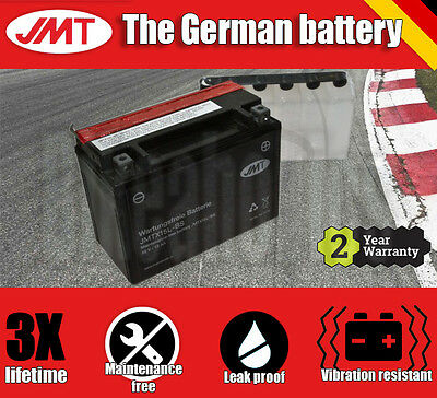 Premium JMT Maintenance free battery - YTX15L-BS- Bombardier DS 650 BajaX - 2001