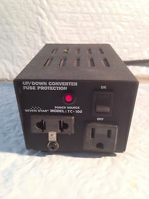 Seven Star 100W 110V Or 220V Power Source Up/down Converter Tc-100