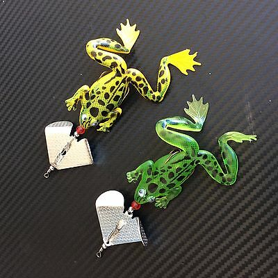 2x Frog Buzzbaits 1/2oz Spinnerbaits Spinner Lures Skirted Soft Plastic Bass