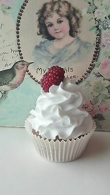 Fake Cupcake with Raspberry for Photo Props Home Decor and Displays