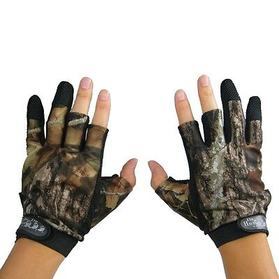 Camo Gloves Suit Hunting Shooting Fishing  Camping Outdoors Camouflage