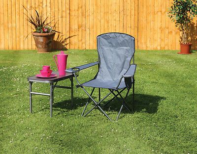 Quest Traveller Morecambe Compact Folding Chair Taupe (Grey) incl Carry Bag