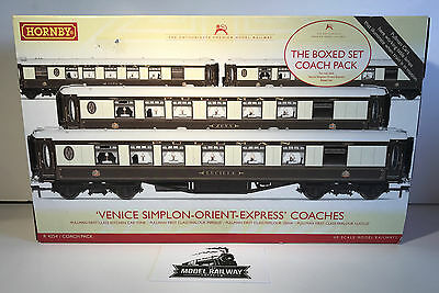Hornby - R4254 - VENICE SIMPLON ORIENT EXPRESS PULLMAN COACHES - USED BOXED RARE