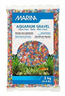 Marina Decorative Aquarium Rainbow Multi-Coloured Gravel, 2 Kg
