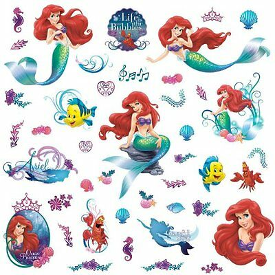 RoomMates Disney The Little Mermaid Repositionable Wall Stickers, Multi-Colour