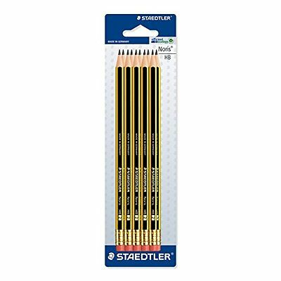 Staedtler Noris 122 HB Pencil with Eraser Tip - Pack of 10 (Double Stacked)