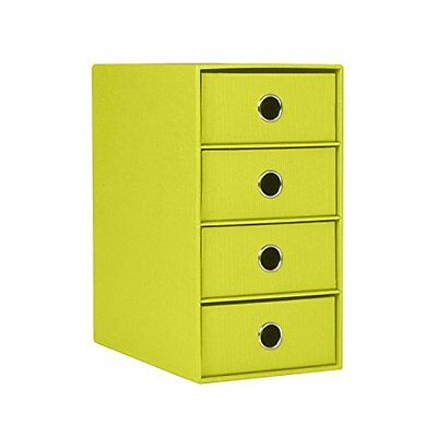 Rossler Soho 4 Drawer Filing Storage Box - Green