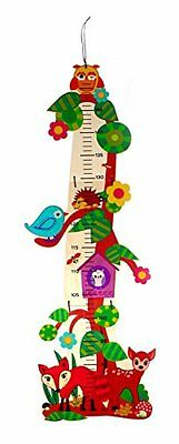 Hess Wooden Toy 14624-Woodland Animals Wooden Height Chart