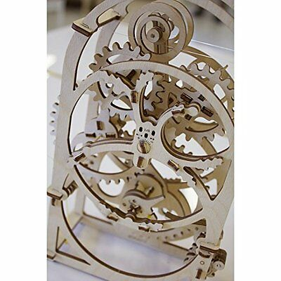 Ugears 70004-Timer Mechanical Clock 3D Wood Kit without glue