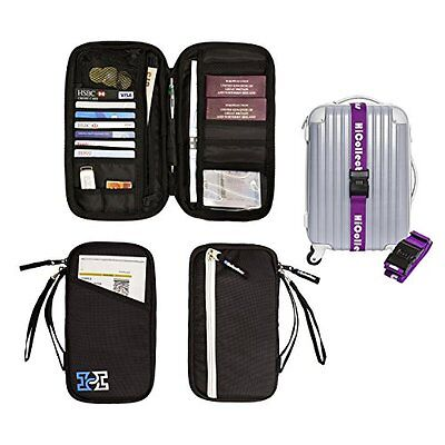 Travel Wallet Passport Holder Family Document Card Organiser RFID Secured Holida