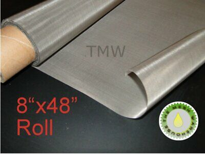 """8""""x48"""" ROLL 25 Micron - Stainless Steel 316 SS Mesh Cloth Screen filter 710"""