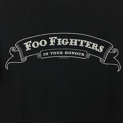 Foo Fighters Concert Tour T Shirt 2005 Cities In Your Honor US Tour MEDIUM