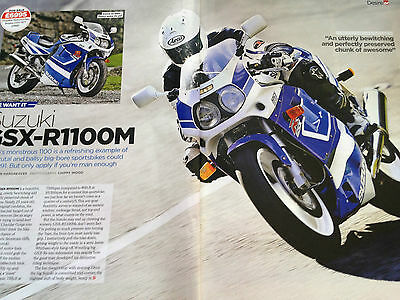 Suzuki Gsx-R1100M # 4 Page Original Motorcycle Article