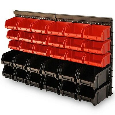Workshop Storage Boxes Plastic Bins Wall Mounted Tool Panel Hanging Garage Rack