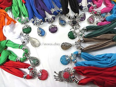 US SELLER-12pcs wholesale jewelry scarf necklace bulk lot wholesale shawl