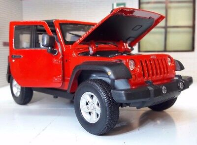 Jeep Rubicon Wrangler 2007 LGB G 1:24 Scale Detailed Diecast Welly Model 22489