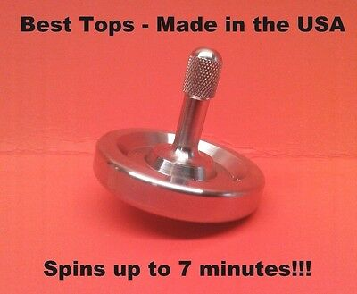 New! Precision Spinning Top Toy - Spins Forever up to 7 minutes - Made in USA