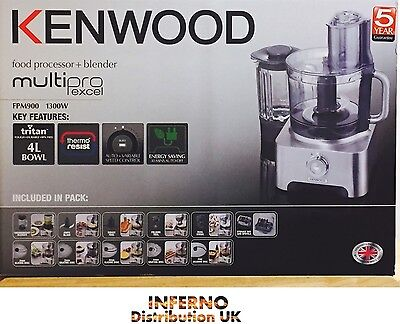 KENWOOD Multi Pro Excell Food Processor Blender Scales 1200W FP980 4L Bowl *NEW*