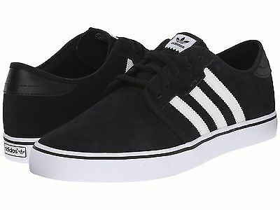 Adidas ® Seeley Suede Black White Men's Shoes * Original And New